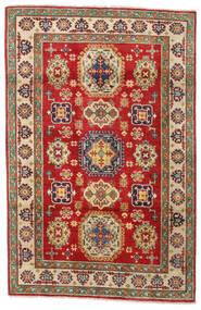 Kazak Teppe 122X186 Ekte Orientalsk Håndknyttet Olivengrønn/Mørk Brun (Ull, Afghanistan)