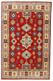Kazak Teppe 118X187 Ekte Orientalsk Håndknyttet Rust/Brun (Ull, Afghanistan)