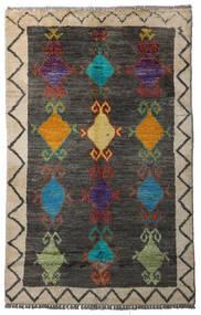 Moroccan Berber - Afghanistan Teppe 84X134 Ekte Moderne Håndknyttet Mørk Grå/Lys Grå (Ull, Afghanistan)