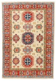 Kazak Teppe 97X140 Ekte Orientalsk Håndknyttet Beige/Mørk Beige (Ull, Afghanistan)