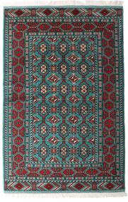 Turkaman Teppe 140X208 Ekte Orientalsk Håndknyttet Svart/Mørk Grønn (Ull, Persia/Iran)