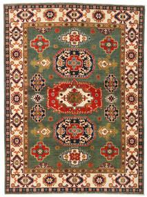 Kazak Teppe 155X211 Ekte Orientalsk Håndknyttet Mørk Grønn/Rød (Ull, Afghanistan)