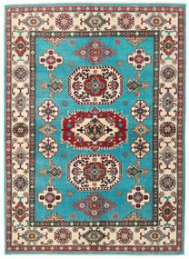 Kazak Teppe 176X241 Ekte Orientalsk Håndknyttet Turkis Blå/Beige (Ull, Afghanistan)