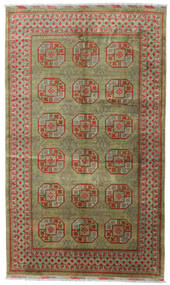 Afghan Teppe 196X330 Ekte Orientalsk Håndknyttet Lys Grå/Olivengrønn (Ull, Afghanistan)