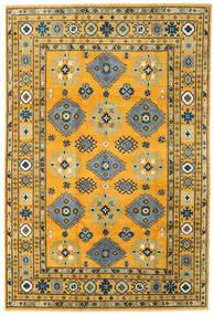 Kazak Teppe 199X296 Ekte Orientalsk Håndknyttet Orange/Mørk Grå (Ull, Afghanistan)
