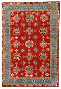 Kazak Teppe 197X289 Ekte Orientalsk Håndknyttet Rust/Lysbrun (Ull, Afghanistan)