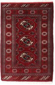 Turkaman Teppe 66X96 Ekte Orientalsk Håndknyttet Mørk Rød (Ull, Persia/Iran)