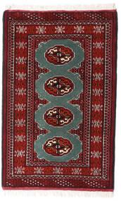 Turkaman Teppe 62X97 Ekte Orientalsk Håndknyttet Mørk Rød/Hvit/Creme (Ull, Persia/Iran)