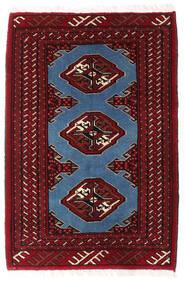 Turkaman Teppe 64X94 Ekte Orientalsk Håndknyttet Mørk Rød/Hvit/Creme (Ull, Persia/Iran)