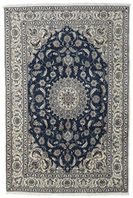Nain Teppe 197X296 Ekte Orientalsk Håndknyttet Mørk Grå/Lys Grå/Mørk Blå (Ull, Persia/Iran)