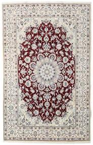 Nain Teppe 194X305 Ekte Orientalsk Håndknyttet Lys Grå/Mørk Brun (Ull, Persia/Iran)