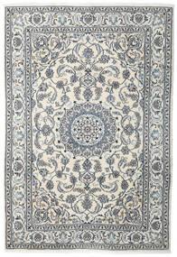 Nain Teppe 198X288 Ekte Orientalsk Håndknyttet Beige/Lys Grå (Ull, Persia/Iran)
