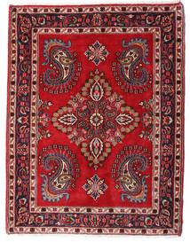 Hamadan Shahrbaf Teppe 73X95 Ekte Orientalsk Håndknyttet Mørk Rød/Mørk Brun (Ull, Persia/Iran)