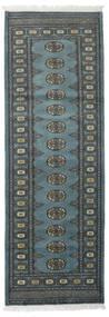 Pakistan Bokhara 2Ply Teppe 78X232 Ekte Orientalsk Håndknyttet Teppeløpere Mørk Grå/Blå (Ull, Pakistan)