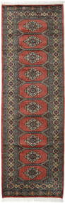 Pakistan Bokhara 2Ply Teppe 76X236 Ekte Orientalsk Håndknyttet Teppeløpere Mørk Rød/Mørk Grå (Ull, Pakistan)