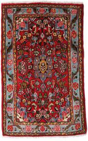 Asadabad Teppe 70X108 Ekte Orientalsk Håndknyttet Mørk Brun/Mørk Rød (Ull, Persia/Iran)