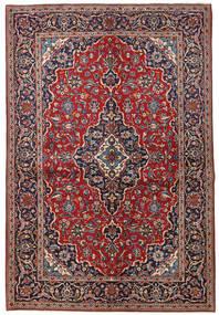 Keshan Teppe 149X223 Ekte Orientalsk Håndknyttet Mørk Rød/Mørk Lilla (Ull, Persia/Iran)