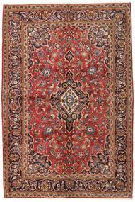 Sarough Sherkat Farsh Teppe 134X215 Ekte Orientalsk Håndknyttet Mørk Brun/Mørk Rød (Ull, Persia/Iran)