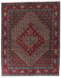 Senneh Teppe 123X154 Ekte Orientalsk Håndknyttet Mørk Rød/Mørk Brun/Mørk Grå (Ull, Persia/Iran)