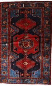 Hamadan Teppe 127X205 Ekte Orientalsk Håndknyttet Mørk Brun/Mørk Rød (Ull, Persia/Iran)