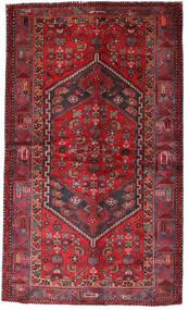 Hamadan Teppe 135X228 Ekte Orientalsk Håndknyttet Mørk Rød/Rød (Ull, Persia/Iran)