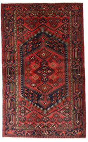 Hamadan Teppe 125X203 Ekte Orientalsk Håndknyttet Mørk Rød/Svart (Ull, Persia/Iran)