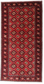 Beluch Teppe 128X249 Ekte Orientalsk Håndknyttet Teppeløpere Mørk Rød/Mørk Brun (Ull, Persia/Iran)