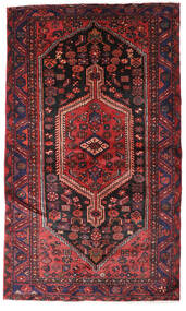 Hamadan Teppe 132X224 Ekte Orientalsk Håndknyttet Mørk Rød/Mørk Brun (Ull, Persia/Iran)