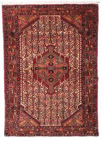 Asadabad Teppe 108X147 Ekte Orientalsk Håndknyttet Mørk Rød/Mørk Brun (Ull, Persia/Iran)