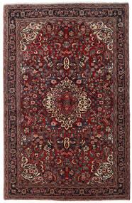 Jozan Teppe 138X215 Ekte Orientalsk Håndknyttet Mørk Rød/Svart (Ull, Persia/Iran)