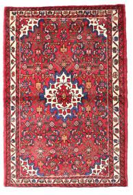 Hosseinabad Teppe 105X156 Ekte Orientalsk Håndknyttet Rød/Rust (Ull, Persia/Iran)