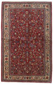 Sarough Sherkat Farsh Teppe 135X212 Ekte Orientalsk Håndknyttet Mørk Rød/Mørk Grå (Ull, Persia/Iran)