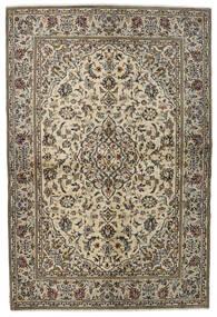 Keshan Teppe 137X205 Ekte Orientalsk Håndknyttet Lys Grå/Mørk Grå (Ull, Persia/Iran)