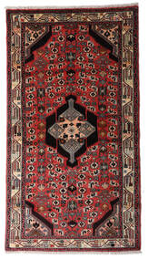 Asadabad Teppe 93X170 Ekte Orientalsk Håndknyttet Teppeløpere Mørk Brun/Rust (Ull, Persia/Iran)