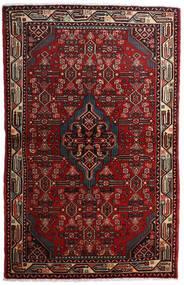 Asadabad Teppe 108X169 Ekte Orientalsk Håndknyttet Mørk Rød/Mørk Brun (Ull, Persia/Iran)