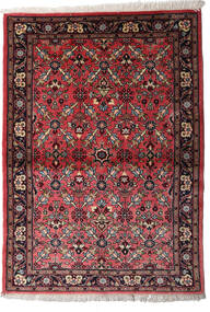 Mehraban Teppe 107X150 Ekte Orientalsk Håndknyttet Mørk Brun/Mørk Rød (Ull, Persia/Iran)