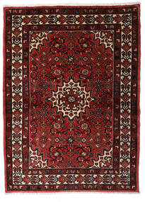 Hosseinabad Teppe 107X146 Ekte Orientalsk Håndknyttet Mørk Rød (Ull, Persia/Iran)