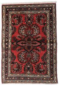 Hamadan Teppe 96X139 Ekte Orientalsk Håndknyttet Mørk Brun/Rust (Ull, Persia/Iran)