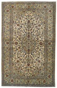 Keshan Teppe 142X224 Ekte Orientalsk Håndknyttet Mørk Grå/Lysgrønn (Ull, Persia/Iran)