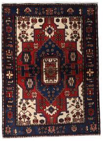 Hamadan Teppe 110X150 Ekte Orientalsk Håndknyttet Mørk Blå/Mørk Rød (Ull, Persia/Iran)
