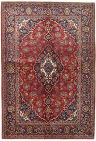 Keshan Teppe 147X215 Ekte Orientalsk Håndknyttet Mørk Rød/Mørk Lilla (Ull, Persia/Iran)