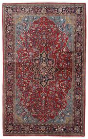 Sarough Sherkat Farsh Teppe 132X211 Ekte Orientalsk Håndknyttet Mørk Brun/Mørk Rød (Ull, Persia/Iran)