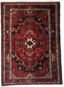 Hamadan Teppe 112X158 Ekte Orientalsk Håndknyttet Mørk Rød/Mørk Brun (Ull, Persia/Iran)