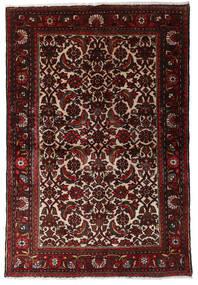 Hamadan Teppe 98X147 Ekte Orientalsk Håndknyttet Mørk Rød/Mørk Brun (Ull, Persia/Iran)