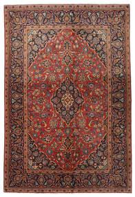 Keshan Teppe 138X206 Ekte Orientalsk Håndknyttet Mørk Brun/Mørk Rød (Ull, Persia/Iran)
