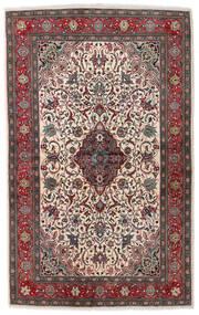 Sarough Sherkat Farsh Teppe 133X215 Ekte Orientalsk Håndknyttet Mørk Brun/Lys Grå (Ull, Persia/Iran)