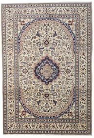 Nain Teppe 241X349 Ekte Orientalsk Håndknyttet Lys Grå/Mørk Grå/Beige (Ull, Persia/Iran)