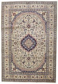 Nain Teppe 242X351 Ekte Orientalsk Håndknyttet Lys Grå/Beige (Ull, Persia/Iran)