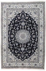 Nain Teppe 197X290 Ekte Orientalsk Håndknyttet Lys Grå/Mørk Grå (Ull, Persia/Iran)