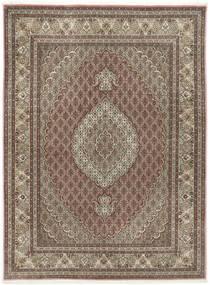 Tabriz 50 Raj Med Silke Teppe 155X209 Ekte Orientalsk Håndknyttet Lys Grå/Lysbrun (Ull/Silke, Persia/Iran)